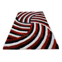 Wholesale Concise Red 3D Polyester Shaggy Rug, Contemporary Coffee Modern Shaggy Rugs For Soft Area from china suppliers