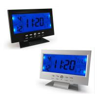 Wholesale Sound Control Multi Functional Color Screen Digital LED Calendar Weather Hygrometer Thermometer Display Clock from china suppliers