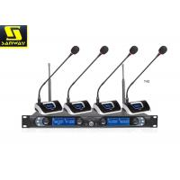 Wholesale 8845B Four Channel Wireless Microphone System Wireless Conference Microphone Black from china suppliers