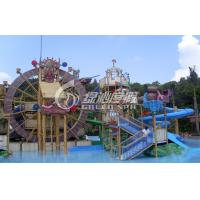 Wholesale Outdoor Big Wheel Fiberglass Spiral Water Slide , Aqua Tower for Children and Adults from china suppliers