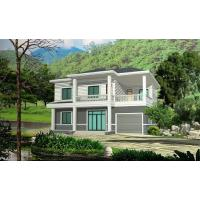 Wholesale Prefabricated Rural Villa With Light Steel Frame , Quick Assemble Prefab Modular Housing from china suppliers