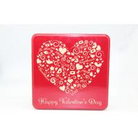 Wholesale Wedding Gift  Red Square Tin Box With Heart-Shaped Logo , Candy Tin Cans from china suppliers