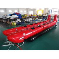 Wholesale 10 Passenger In-Line Red Shark Towable Inflatable Banana Boat For Sale Beach Toy from china suppliers
