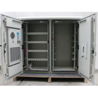 Wholesale Two Compartment 24U Outdoor Wall Mounted Cabinet , Outdoor Telecom Enclosure With Heat Exchanger from china suppliers