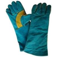 Wholesale L cotton lined Safety leather work welding gauntlet gloves for household work from china suppliers