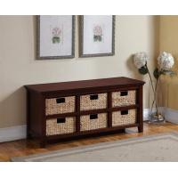 Wholesale Stand 3 Seater Storage Bench Straw Basket Drawers Cabinet Shoe Rack from china suppliers