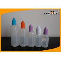 Wholesale 10ml E Liquid Bottles 5ML -30ML LDPE Plastic Squeeze E-cigarette Liquid bottles with childproof cap from china suppliers