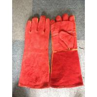 "Quality 16"" / 14"" Red Safety Working Gloves Full Lining Apron Palm Kevlar Stiched for sale"