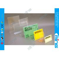 Wholesale Customized Slant Back Clear Acrylic Display Stands , Supermarket Sign Holder from china suppliers