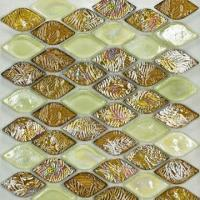Wholesale Wall Tiles, Ideal as Crystal Glass Mosaic, Comes in Beige Color Mixture from china suppliers