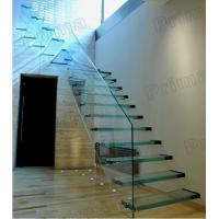 Buy cheap open riser staircase /laminated glass staircase / glass stairs from wholesalers