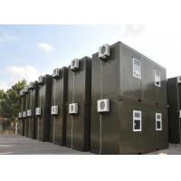 Wholesale quick installed temorary dorm  prefabricated military flat pack container house from china suppliers