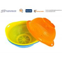 Wholesale Eco Friendly Plastic Kitchenware Small Round Plastic Basket for vegetable , yellow color from china suppliers