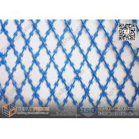 Wholesale 2.4m height X 6m Width BTO-30 75X150mm Diamond hole Welded Razor Mesh Barriers | Blue Color Razor Mesh from china suppliers