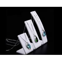 Wholesale Bracelet and Necklace Jewelry Display White Slanted Acrylic Stand Height 95, 135,175mm from china suppliers