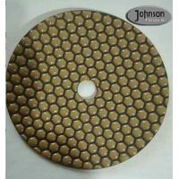 Wholesale 7 Inch Honeycomb Dry Diamond Polishing Pads For Stone Surface Super Soft Type from china suppliers