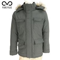 China Waterproof Durable Green Padded Jacket Mens Adjustable Fit Polyurethane Shell for sale