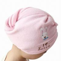 Wholesale New Style Shower Cap/Hair Turban, Made of 100% Cotton/High Water Absorption/High Quality/Best Price from china suppliers