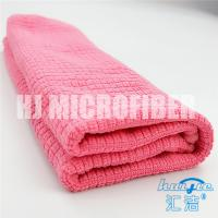 Wholesale Microfiber Cleaning Cloth pink check 80% polyester and 20% polyamide household cleaning towel from china suppliers