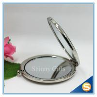 Quality Shinny Gifts Promotion Gift Folding Custom Printed Metal Compact Mirror for sale
