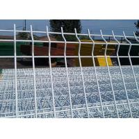 Buy cheap Powder Hot Dip Galvanized Garden Mesh Fencing / Welded Triangle Bending Fence from wholesalers
