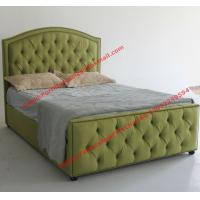 Wholesale Water green fabric bed by upholstery pad headboard in button and antique nail for Apartment Bedroom suite from china suppliers