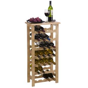 Wholesale Storage Shop Floor Standing Wine Rack Wood Solid Hardwood Craftsmanship from china suppliers