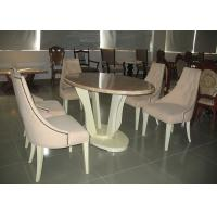 Wholesale Round White Wooden Modern Wood Dining Room Tables And Chairs Sets from china suppliers