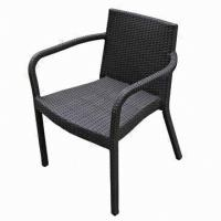 Wholesale Rattan stackable chair with UV-resistant and aluminum tube from china suppliers