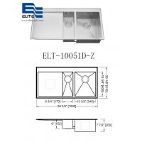 Wholesale Topmount Stainless Steel Sink with Drainboard from china suppliers