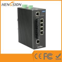 Wholesale 3 Fiber port WEB management outdoor network switch 8 port Dinrail type from china suppliers