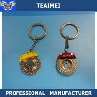 Wholesale Embossed Brake Disc Car Key Keychains Promotional Keyrings For VOLVO / FORD from china suppliers