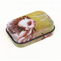 Buy cheap Customer hinged lid Rectangular Tin Box Gift Chocolate / Biscuit Cookie Candy from wholesalers