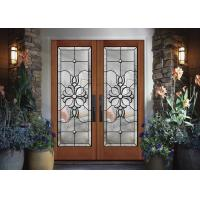 Buy cheap Wood frame dedorative  Glass Sliding Door , Black Patina Internal Glass Sliding Doors from wholesalers