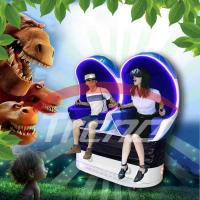 Wholesale Blue Orange Luxury Seat 9D VR Simulator With 360 Degree Rotating Platform from china suppliers
