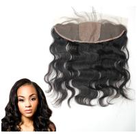 Buy cheap Ear To Ear Silk Base Lace Front Hair Closure With Hidden Knots Body Wave from wholesalers