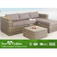 Wholesale Sling Material All Weather Wicker Patio Furniture With Garden Love Sofa Lounge Chair from china suppliers