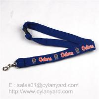 Wholesale Tube Lanyard Neck Ribbon with Metal Rifle Trigger Hook, polyester tubular straps from china suppliers