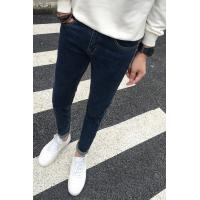 Wholesale Silicone Waistband Cotton Relaxed Fit Tapered Leg Jeans For Men , Push Up Pants Jeans from china suppliers
