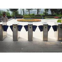 Wholesale IR Sensor Control Flap Barrier Turnstile Security Systems With Fingerprint Sensor from china suppliers