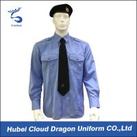 Wholesale Soft CVC Twill Security Guard Uniform Shirts / Long Sleeve Dress Shirt , OEM / ODM Service from china suppliers