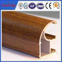 Quality Wood finished aluminum extrusion profiles,aluminum window frames price for South Africa for sale