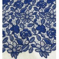 Wholesale Stretchy Polyester Floral Navy Blue Lace Fabric Trimming Custom Printed from china suppliers