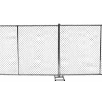 Wholesale 8ft x 10ft construction chain link fence opening 2⅜x2⅜(60mmx60mm)  tubing 16ga thick and diameter 11ga/2.90mm,11.5ga/2.7 from china suppliers