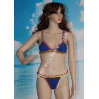 Buy cheap Two pieces  hand crochet trims flexible swimwear with many colors from wholesalers