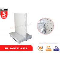 Wholesale Supermarket Gondola Shelving With Perforated Panel , Retail Shop Display Stands from china suppliers