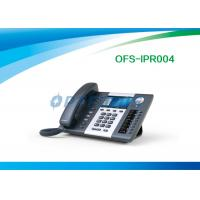 Wholesale 2x 10 / 100 / 1000Mbps 6 Lines WIFI SIP Phone , 3 Way Conference Call Phone from china suppliers