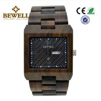 Quality Square Shape Luxury Wooden Wrist Watch , Recycled Custom Wood Watch For Sport / Business for sale