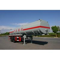 21400L 2x13T Fuwa Axles Stainless Steel Tanker Trailers / Petroleum Tank Trailers