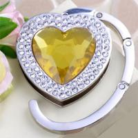 Wholesale Foldable Heart Bag Hanger purse hanger handbag hook With Crystal QY-BH03 from china suppliers